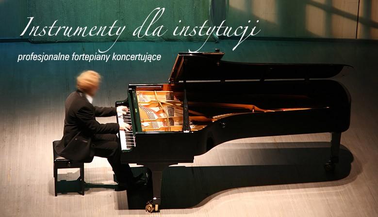instrumenty dla instytucji profesjonalne fortepiany koncertujące